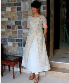 Allow this rain to feed the seeds in your heart and fill it with peace...try this printed Kurti over the A-line inner Kurti...that creates a soothing combinatio