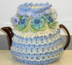 lavender blue hand knitted crocheted and by peerietreisures