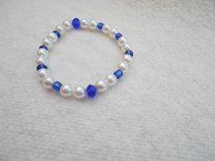Flower Girl Bracelet, Children Jewelry, Kids Pearl Stretch Bracelet, #handmadejewelry #shophandmade