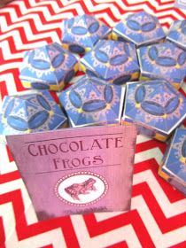 Chocolate frog printable (use some pictures of wizards & a couple of Dustin as a bridal shower game!)