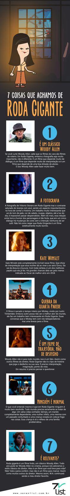 Woody Allen está de volta! E dessa vez com um drama estrelado por Kate Winslet e Justin Timberlake. Confira 7 coisas que achamos de Roda Gigante. #SevenList #Cine #Movie #WonderWheel #RodaGigante #WoodyAllen #Cine #Cinema #Filmes #Filme
