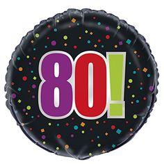 "18"" Foil Birthday Cheer 80th Birthday Balloon Unique http://a.co/1I80ysp"