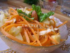 Постный салат с морковью и свежим имбирем - http://emsalat.ru/salad_veget/postnyiy-salat-s-morkovyu-svezhim-imbirem.html