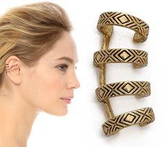 "Emma Stone Rocks Edgy Ana Khouri Ear Cuffs at the ""Birdman"" NYFF Screening"
