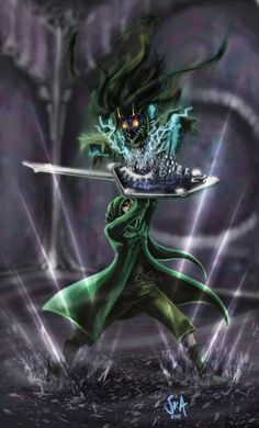 Link vs. Majora by SKA  This wins for so many reasons, the coat and majora beast for one thing and the shockwave with rain for another