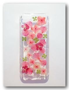 Handmade iPhone 5C case, Resin with Real Flower, Pressed flower (7)