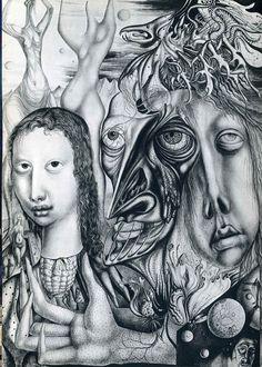 The Lamentation of the ambivalent - Ernst Fuchs. Artist: Ernst Fuchs