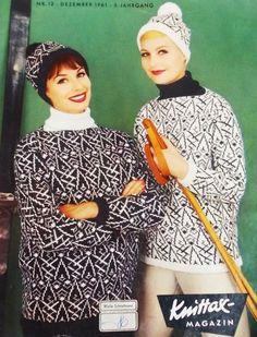 1960s Sweater. Knittax Magazin 12/1961
