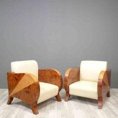 Paire de fauteuils club art déco - Meubles art déco