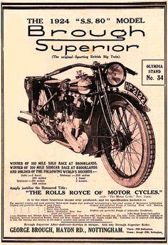 "Brough Superior ""ss80"" 1924"