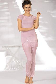 Różowa piżama AVA / Pink pajamas / 141,50 PLN #pyjamas #heart #pizama #serca #bielizna_nocna #nightclothes #ava