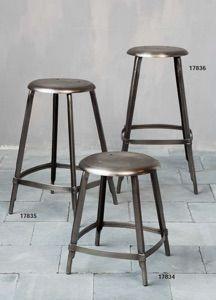 Sgabelli in ferro - Iron stools http://www.griffegenova.com/Griffe_Home/Divani_pint_new.html