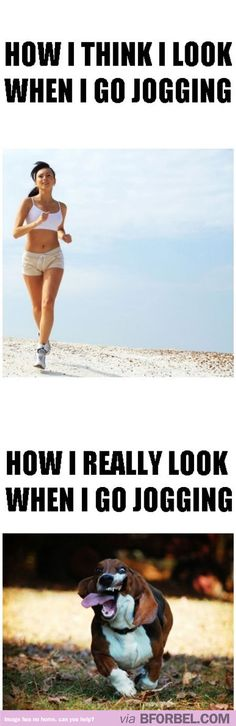 Going jogging isn't as pretty as it sounds…