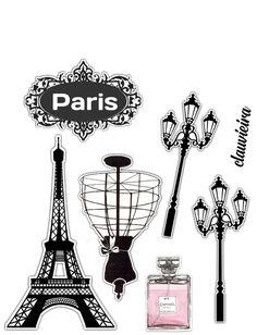 Bolo Paris, Cake Paris, Paris Rosa, Barbie Cake, Paris Party, Cake Decorating Techniques, Explosion Box, Fairy Dust, Cake Toppers