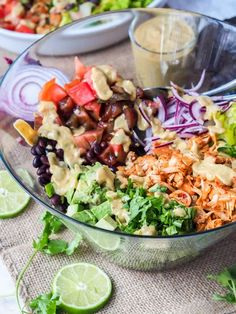 No need for real pulled pork when you can make jackfruit pulled pork instead and add it to this Southwest summer salad for a full hearty plant based meal #vegan #salad #jackfruit #vegetarian Pasta Salad Recipes, Healthy Salad Recipes, Easy Healthy Dinners, Vegan Dinners, Vegetarian Recipes, Avocado Recipes, Potato Recipes, Soup Recipes, Chicken Recipes