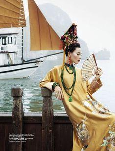 "HARPER'S BAZAAR INDONESIA- Dara Warganegara in ""Her Imperial Majesty"" by Nicoline Patricia Malina."