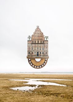 Artist Matthias Jung's whimsical architectural collages imagine fantastically surreal houses.
