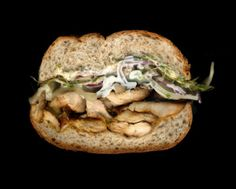 Grilled Chicken, Sprouts, Onions, Provolone, Mayo & Mustard On a Whole Wheat Roll. Grilling Recipes, Wine Recipes, Gourmet Recipes, Healthy Recipes, Whole Wheat Rolls, Sandwiches, I Want Food, Good Food, Yummy Food