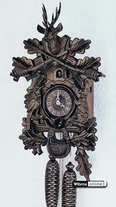 Carved Cuckoo Clocks Cuckoo Clock 8-day-movement Carved-Style 40cm by Anton Schneider