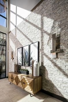 Tile Accent Wall, Accent Wall Designs, Stone Accent Walls, Accent Walls In Living Room, Accent Wall Bedroom, Wall Accents, Wall Tile, Master Bedroom, Wall Art