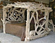Ok this is just too awesome how cool it would be to sleep on this bed!    Bristlecone Pine Furniture