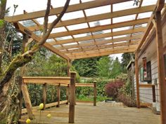 Clear patio cover for more light in shady area - Oregon