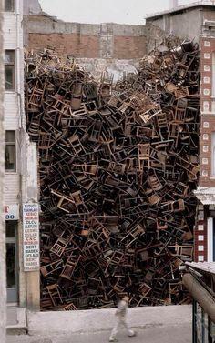 Salcedo, Street Art Chair sculpture, Istanbul Turkey | Street I AmStreet I Am