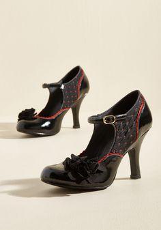 ddf69f7fbdf Ruby Shoo Statement Arrangement Mary Jane Heel in Noir