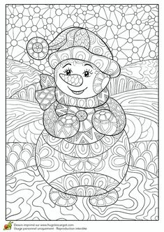 art ed central loves to color snowmen