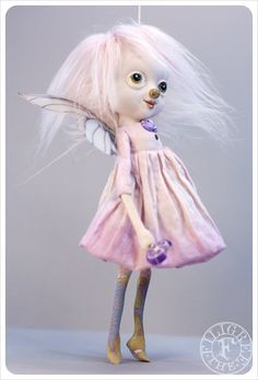 Reserved  Candy Fairy Art Doll  Violet Lollipop by theFiligree, $115.00