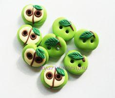 apple buttons from Ayarina/dawanda