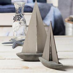 Dekoobjekt Schiff, 24x6,5x35cm, grauDekoobjekt Schiff, 24x6,5x35cm, grau, grau