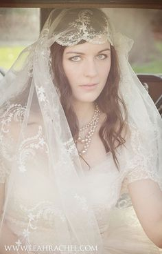 1920's Style Juliet Veil by RubyandCordelias on Etsy, $160.00