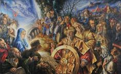 "Saatchi Art Artist Alexander Donskoi; Painting, ""The Adoration of The Magi"" #art"