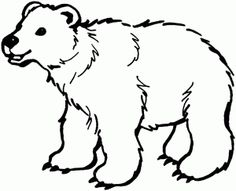 Printable Polar Bear Coloring Page Coloring Book Pages Pinterest - Polar-bear-coloring-pages