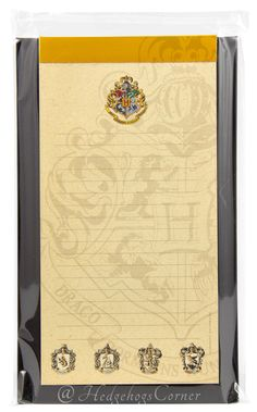 Wizarding World Harry Potter Magnetic Notepad Hogwarts Crest 4x8 NEW http://www.bonanza.com/listings/Wizarding-World-Harry-Potter-Magnetic-Notepad-Hogwarts-Crest-4x8-NEW/176333587