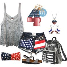 - 4th of July -I want to try to make the girls these shorts using old jeans for the fourth!!