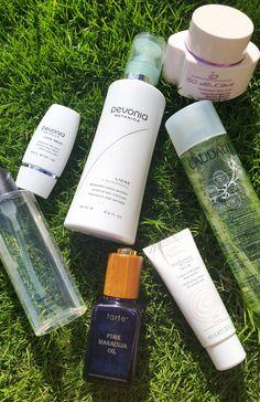 My Daily Skincare Routine for Dry Sensitive Skin  #Pevonia #MAC #Tarte #GermainedeCapuccini #Caudalie #SkiniTini