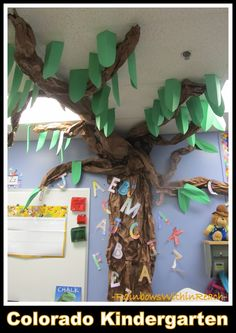 Tree for forest themed reading space