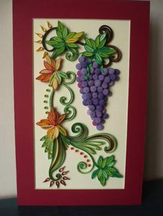A bunch of quilled grapes - by Aureliana Lixandru