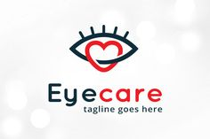 Eye Care Love Logo Template @creativework247