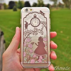 MADE IN JAPAN Soft TPU Clear Case Alice in Wonderland Rabbit design for iPhone 6 & iPhone 6s