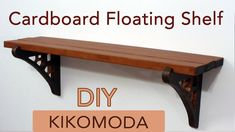 DIY How to make a Cardboard Floating Shelf + load testing, (cardboard furniture - shelf) HD - YouTube