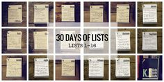 30 Lists: The Halfway Point