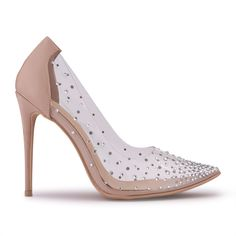 Nude Patent Court Shoe With Clear Sides - Shoes   YDE Nude Heels, High Heels, South African Fashion, Court Shoes, Toe Shape, Slay, Footwear, Pumps, Queen