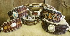 Stunning leather dog collars from master craftsman Denice Langley