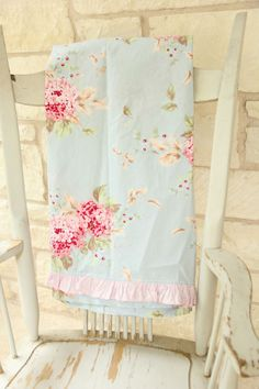 rachel ashwell curtain panel british rose blue simply shabby chic