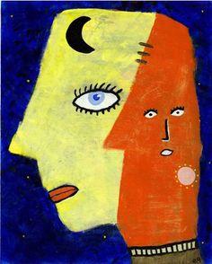 third eye on the moon Outsider Folk Art Painting Brut Goddess Portrait Outsider Art, Third Eye, Folk Art, The Outsiders, Art Pieces, Illustration, Presents, Drawings, Artist