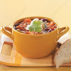 Spicy Vegetable Chili Recipe from Taste of Home