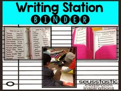 must visit her blog and see everything that goes with this! New Writing Station~In Action! Writing Station, 2nd Grade Writing, Educational Activities, Learning Activities, Teaching Ideas, Daily Five, Writer Workshop, Classroom Inspiration, Classroom Ideas